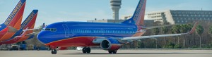Southwest aircraft taxiing