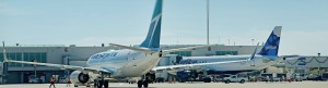 WestJet and JetBlue at Airside 1