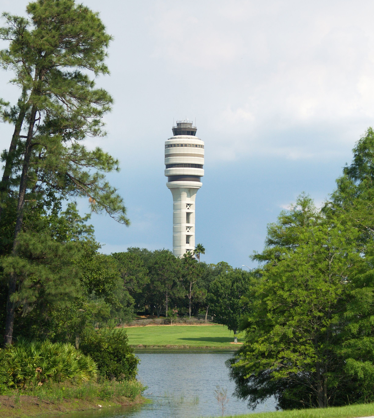 FAA Tower Across Lake