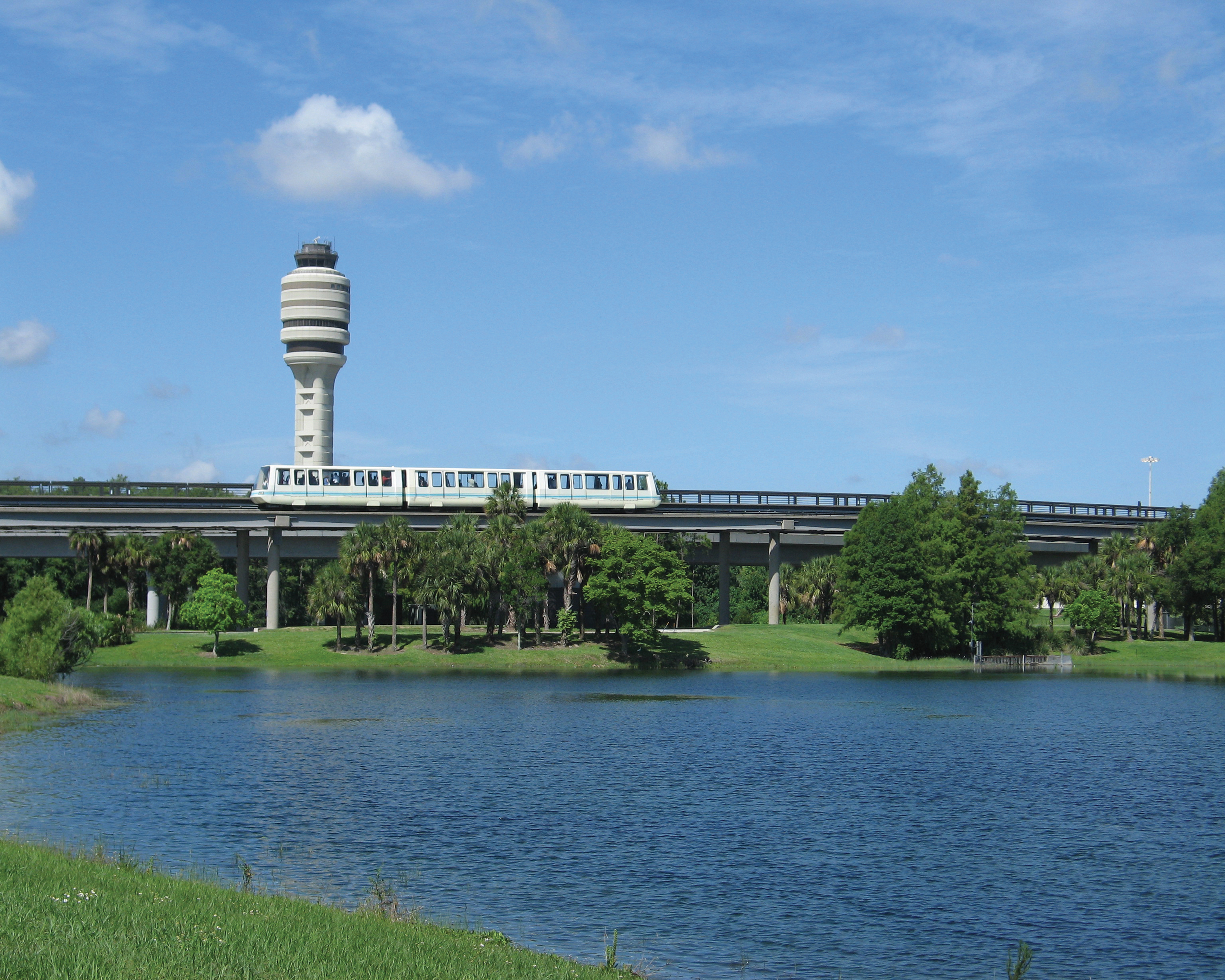 FAA Tower with AGT Across Lake