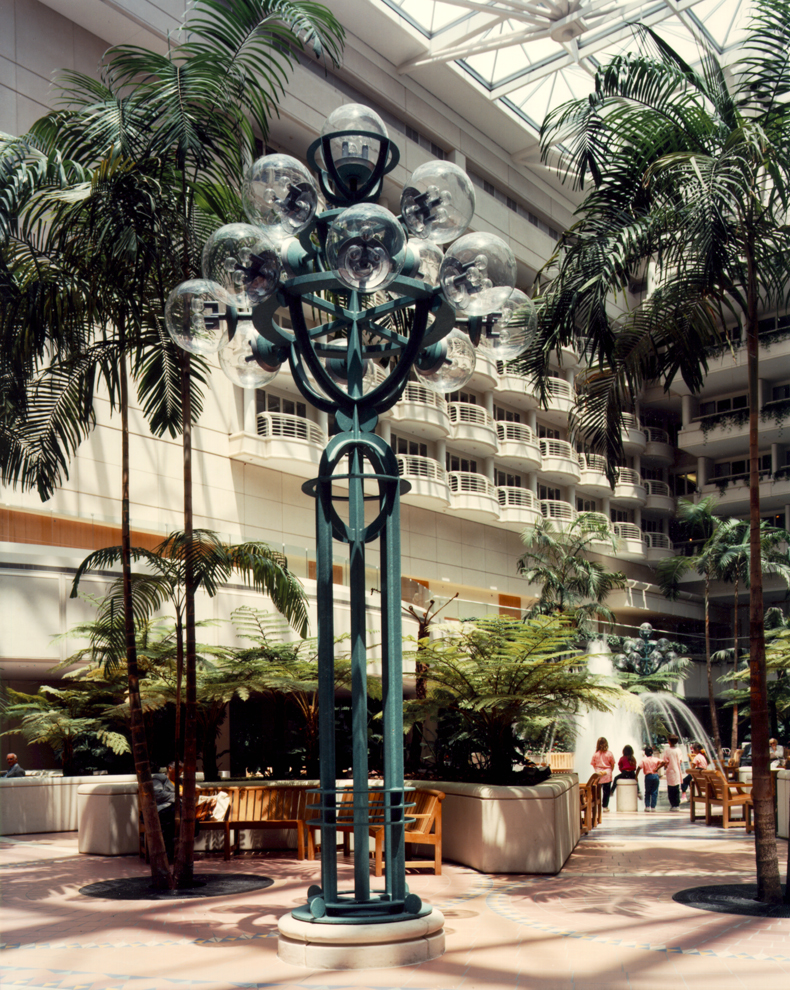 Lights in Hotel Atrium