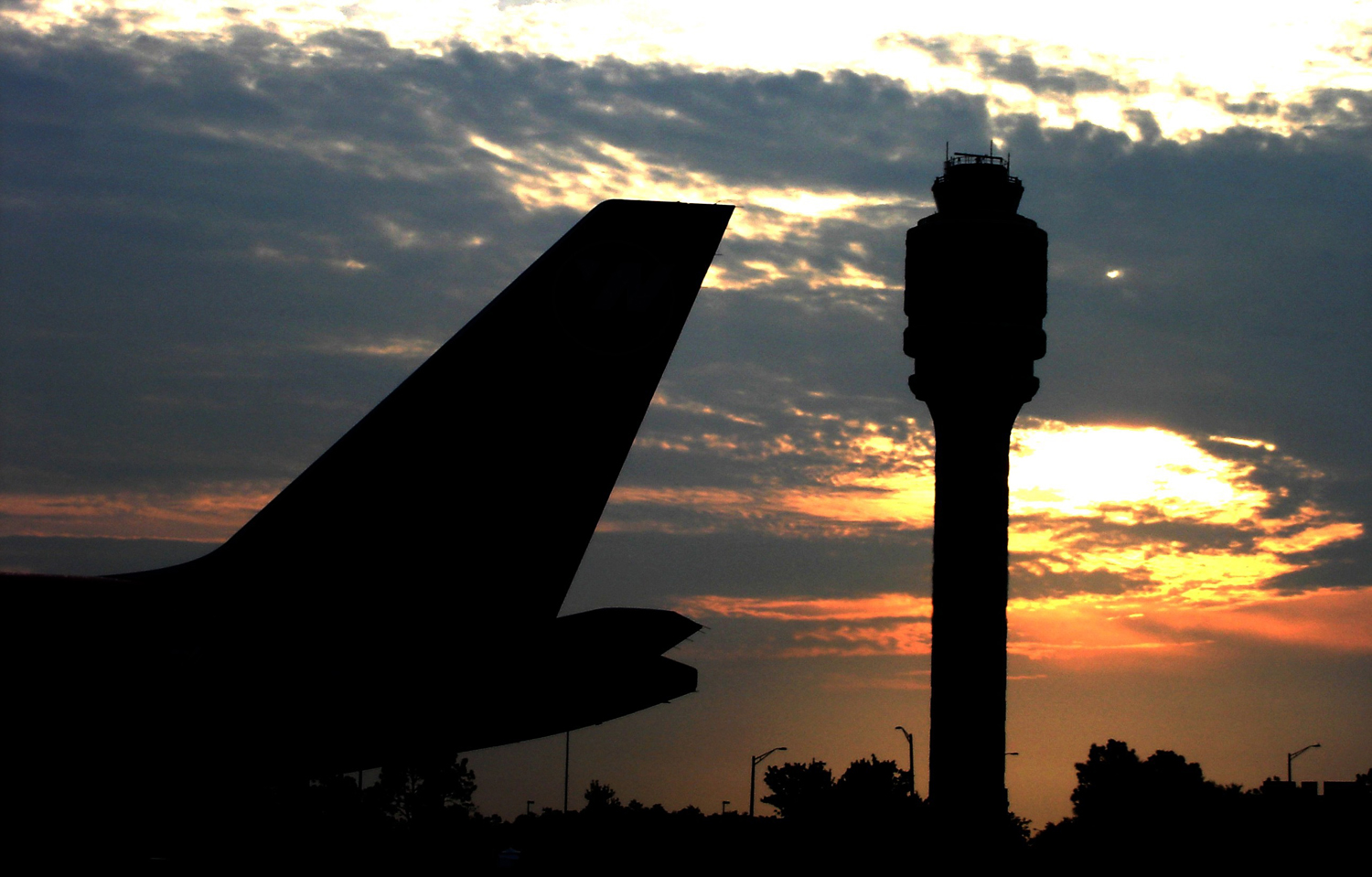 FAA Tower & Tail at Sunrise