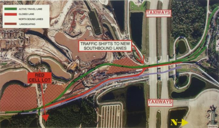 Major Airport Roadway Lane Shift First Highly Visible Construction Project to Impact Travelers at Orlando International Airport