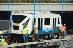 New Train Cars Being Installed