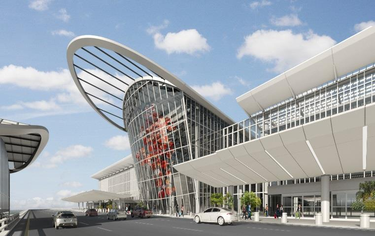 Conceptual drawing of Terminal C Entrance