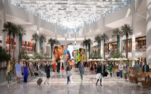 Conceptual drawing of Terminal C Palm Court