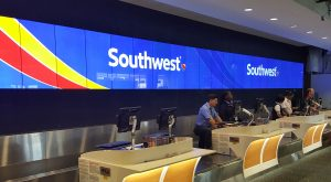 New Check-in Desks and Backwall Signage